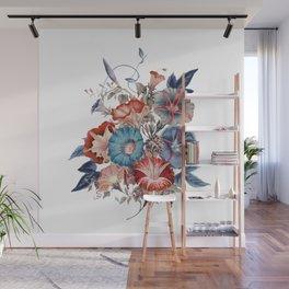 Morning Glories Flower Bouquet Wall Mural
