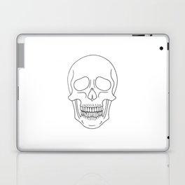Skull (Black Outline) Laptop & iPad Skin