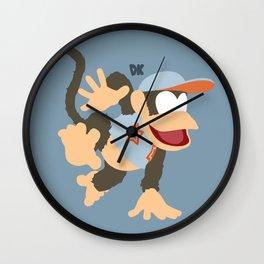 DIDDY KONG(SMASH)GREY Wall Clock