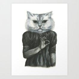 Cat Child Art Print