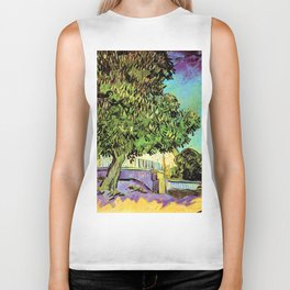 Vincent van Gogh : Blossoming Chestnut Tree 1887 Biker Tank