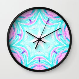 Pink & Blue Star Explosion Light Wall Clock