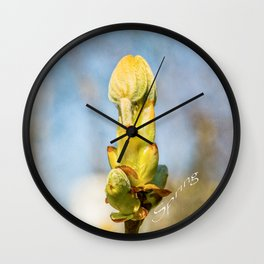 Chestnut Tree Buds - Spring Has Come Wall Clock