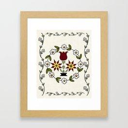 Dutch Country Floral Framed Art Print