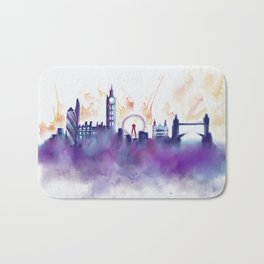 London Skyline Bath Mat