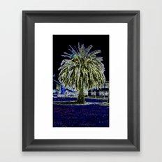 Magic night with Palm tree Framed Art Print