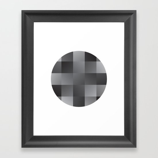 Abstract Squares Framed Art Print