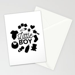 Little Boy Shirt Design for Babies Stationery Cards
