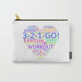 Love to Exercise & Work Out - Workout Love Carry-All Pouch