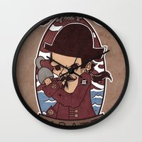 pirate Wall Clocks featuring Pirate by Jelot Wisang