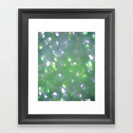 Glitter Bubbling Framed Art Print