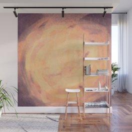 Purple and orange storm simple illustration Wall Mural