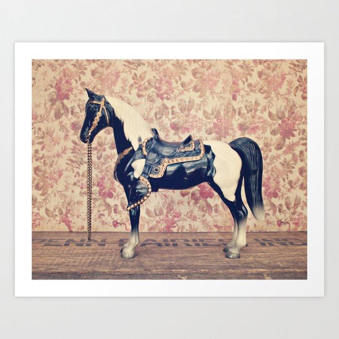 Vintage Horse Art Print By Wmshop Society6