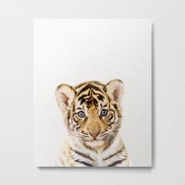 Baby Tiger, Baby Animals Art Print By Synplus Metal Print
