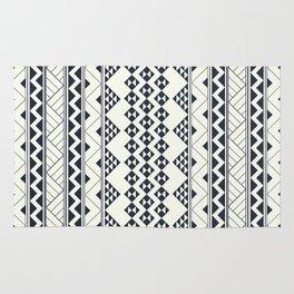 Monocromatic Tribal zigzag triangular pattern Rug