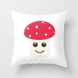 Cute red mushroom Throw Pillow