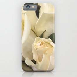 Ivory White Roses in Remembrance of Elizabeth iPhone Case