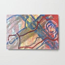 Abstract Ways Metal Print