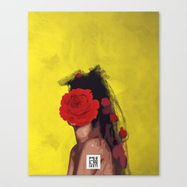 queen of Red Roses Canvas Print