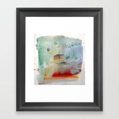 waxing crescent.three Framed Art Print