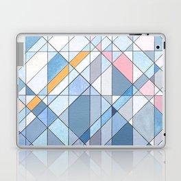 Triangle Pattern no.17 Light Blues Laptop & iPad Skin