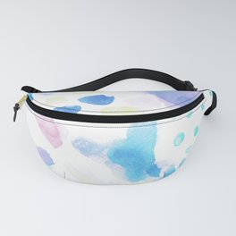 Pastel Watercolor Abstract Splatter Fanny Pack