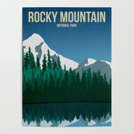 Rocky Mountain National Park - Travel Poster Poster