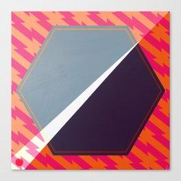 London - color hexagon Canvas Print