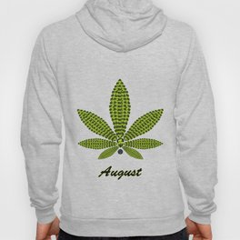 Birthstoned Leaf of Month, August Peridot Hoody