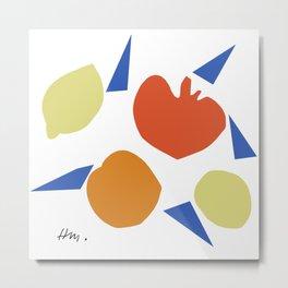 Matisse Abstract Fruit Collage Metal Print