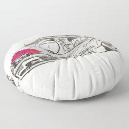Crazy Car Art 0165 Floor Pillow