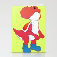 yoshi Stationery Cards featuring Yoshi Red by bloozen