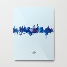 Jerez Spain Skyline Metal Print