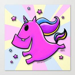 Fab-yoo-lous Unicorn! Canvas Print