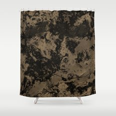 Galaxy in Taupe Shower Curtain