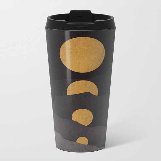Rise of the golden moon Metal Travel Mug
