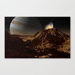 Sulfur fumarole on Io Canvas Print