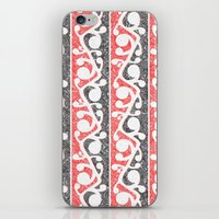 maori iPhone & iPod Skins featuring Maori Kowhaiwhai Distressed Pattern by mailboxdisco