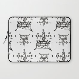 Baron Samedi Voodoo Veve Symbols in White Laptop Sleeve