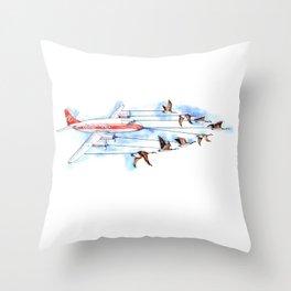 Air Canada Goose Throw Pillow