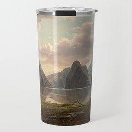 Milford Sound, New Zealand by Eu von Guerard  Romanticism  Landscape Travel Mug