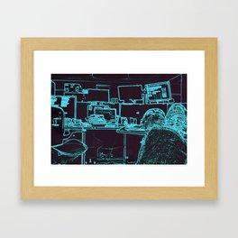 9-1-1 blue Framed Art Print