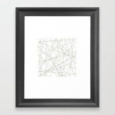 #191 Forty-nine straight lines – Geometry Daily Framed Art Print