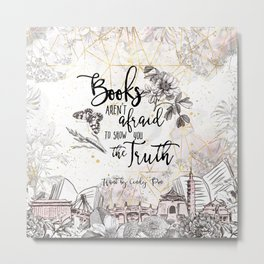 Want - Books Aren't Afraid Metal Print