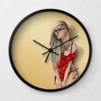 punk Wall Clocks featuring Punk by selena.squarzanti