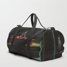 Nighthawks (oil on canvas) Duffle Bag
