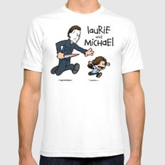 Laurie and Michael SMALL White Mens Fitted Tee