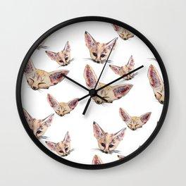 Fennec Foxes Wall Clock