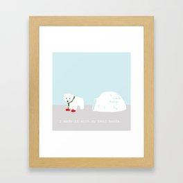 Snowbeary Framed Art Print