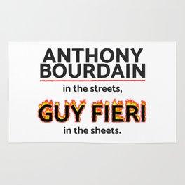 Bourdain in the Streets, Fieri in the Sheets Rug